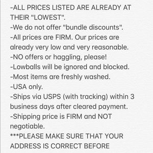 Other - 🖤 SHOP POLICIES 🖤 PLEASE READ BEFORE BUYING! 🖤